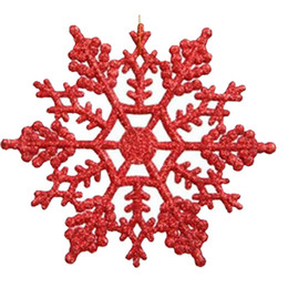 caixas de natal ornamentos atacado Desconto Acrílico Natal flocos de neve Casa Decorações Da Árvore de Natal para Casa Pendurado Ornamentos Feriado de Presente de Natal Agradável de Casamento