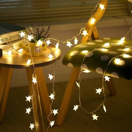 Ha portato le luci stellate a stella online-3m Star Wire String Lights LED Fairy Lights Decorazioni per matrimoni natalizi Luci Batteria Aziona la decorazione eid scintillio