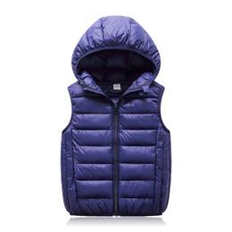 roupas de inverno para meninas de um ano Desconto Com capuz colete criança crianças outerwear casacos de inverno crianças roupas de algodão quente do bebê meninos meninas colete para a idade 3-12 anos de idade