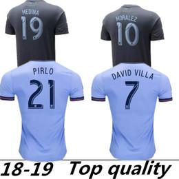 86588c26b7b 2018 Fan version New York City MLS Soccer Jersey Football Shirts 18 19 NYC  Home Pirlo Camiseta de futbol David Villa Maglie