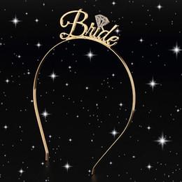 1pc sposa damigella d'onore diadema corona fascia addio al nubilato sposa per essere nozze bridal shower ragazze notte decorazione regali da