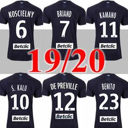 camiseta de santa cruz Desconto 19 20 camisas de futebol Girondins de Bordeaux 2019 2020 maillot de pé BRIAND S.KALU Kamano ui jo Benito de Preville BÁSICOS camisas de futebol