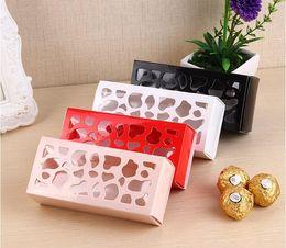 Полый макарон коробка кекс контейнер Валентина шоколад упаковка свадьба выпечки пакет макарон упаковка бумаги торт коробки 4*6 * 13 см SN2733 от