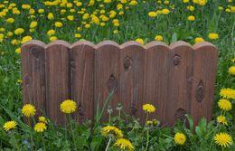 recinzione di piante plastiche Sconti Fiori Yard Piantare recinzione Cemento artificiale Pietra Maker Stampo Log Bordatura Border Plastica Stampo in calcestruzzo Stampo Fai da te Decorazioni da giardino
