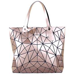 sac fourre-tout géométrique Promotion Japon style sacs à main géométriques femmes sac shouder haute qualité Designer Ladies Purse Grande capacité femelle totes 2019 bolsa