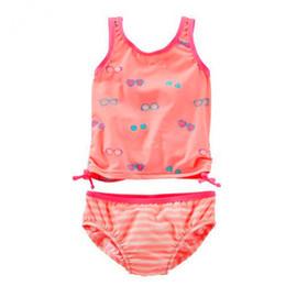 Nuovo modello Kid ragazze Costume intero 2-7 Y neonata di arancia con vetro Swimwear dei bambini di usura di nuoto imbracatura di nuotata costume da bagno da