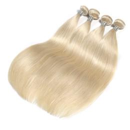 Canada Extension de cheveux raides malaisiens de couleur platine blonde 10-30 pouces tissage 100% de cheveux humains tissage de cheveux remy cheap platinum blonde 24 inch hair extensions Offre