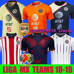 Camisa de futebol laranja on-line-2019 Club America A18 Camisolas de futebol CAMPEON Liga MX 3 Laranja Chivas de Guadalajara Camisolas de Futebol Xolos de Tijuana Tigres Camisas adultas