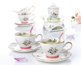 2019 novo Jogo de Chá Europeu Chá Da Tarde Bule De Vidro Resistente Ao Calor Casa Cozinhar Bolhas De Chá De Frutas Alívio Cerâmica Teacup de Fornecedores de presente da bacia de peixes