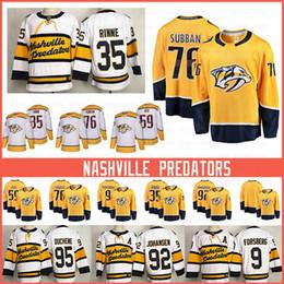 2019 camisa nordiques barato Nashville Predators Breakaway Jogador Jersey 35 Pekka Rinne 76 P. K. Subban 59 Roman Josi 9 Filip Forsberg 92 Ryan Johansen Hockey Jerseys