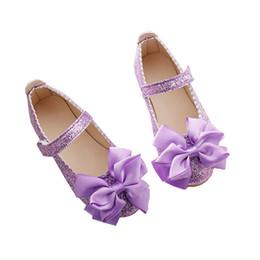Distribuidores de descuento Zapatos Morados Para Niñas