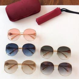 Les dernières lunettes de soleil de style femmes classique plaque cadre en métal miroir jambes designer de mode populaire lunettes de protection lunettes top qualité 0225 ? partir de fabricateur