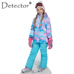 Detector Girl Winter Windproof Ski Jacket and Pant Outdoor Children  Clothing Set Kids Snow Sets Warm Skiing Suit For Boys Girls C18112301 b250d1dc6