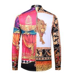 2019 новый мужской дизайн Модные рубашки бренд платье 3d-печать Медуза рубашка с длинными рукавами мужская вечеринка клуб дизайнер топ для мужчин G