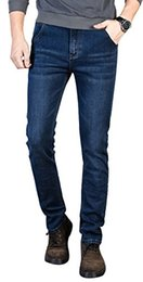 taper jeans Desconto Jeans Stretch PlaidPlain para homem Slim Fit Jeans Cônico
