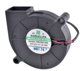 Micro ventola 12v online-RBH5015B 50x50x15mm 5015 5cm 50mm 12V 0.14A Micro Centrifugal Turbine Blower Cooling Fan