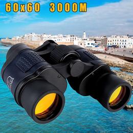 telescopio de binoculares de alta potencia Rebajas Nueva 60X60 del telescopio óptico de visión nocturna de los prismáticos de alta claridad 3000M impermeable del poder Definición de caza al aire libre