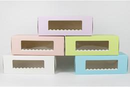 Kek Rulo İsviçre Rulo Kutuları Kurabiye Kek Ambalaj için 2019 Toptan 5 Renk Uzun Karton Fırın Kutusu nereden