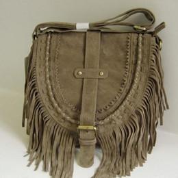 ethnischen stil handtasche großhandel Rabatt Großhandelsböhmische Art-Frauen Boho Beutel-Quasten-Entwerfer-Nubukleder-Crossbody-Franse-Handtaschen-ethnische Kuriertasche Qualität