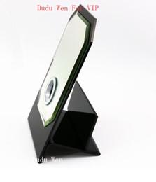 Famoso estilo C espelho de vidro + suporte de tecido acrílico presente VIP caixa de presente de luxo branco ferramenta de maquiagem para caixa de armazenamento doméstico de Fornecedores de presente vidro de casa
