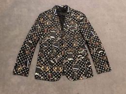 2019 se adequa ao espanhol 2019 França Itália Mens Designer Jaquetas Blazer Totalmente Bolsa impressa homens Luxo qualidade Mens blazers top designer jaqueta blazer alta homens