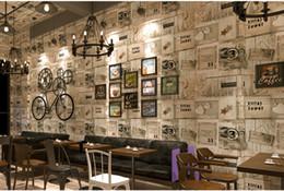 2019 papel de parede imitação de madeira Individual retro padrão de madeira estéreo papel de parede placa de madeira imitação nostalgia Cafe à prova d 'água papel de parede Hotel café Internet papel de parede imitação de madeira barato