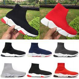2019 zapatos de vestir negros de diseñador para hombre Balenciaga Los zapatos del diseñador de lujo fiesta vestido de la plataforma de las muchachas zapatos Negro Blanco Azul Rojo para hombre de de deporte Alta Media Trainers zapatos de vestir negros de diseñador para hombre baratos