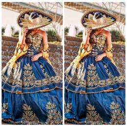 Querida Vintage 2019 Quinceanera Vestidos de Ouro Apliques de Renda Frisado Bordado Peplum Personalizado Júnior Vestidos De Quinceanera Prom Vestido de