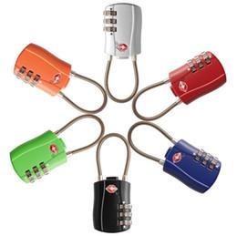 2019 elektronische tastensperren 3-stelliges Zahlenschloss TSA Lock Gepäck Koffer Reisetasche Code Lock Schwarz Rot Gelb Blau Legierung Zahlenschloss 6 Farben LX6934