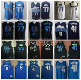6032e86b8 2019 All 77 Star Luka Doncic Jersey Dallas Basketball Mavericks Dirk 41  Nowitzki Jason Kidd Edition City Navy Blue White Black Team World