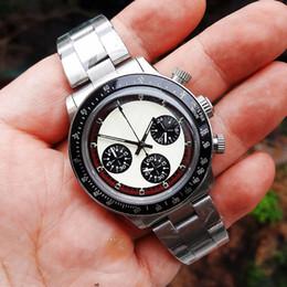 Marcas de relógios japonês on-line-Cronógrafo dos homens de luxo do vintage perpétua paul newman de aço inoxidável de quartzo japonês meless aço marca de moda relógio de pulso dos homens