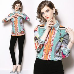 50e61259dd6 New Hot 2019 Spring Summer Fall Runway Floral Print Collar Button Front  Turn Down Neck Long Sleeve Women Casual Office Top Shirt Blouse hot office  shirts ...