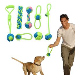 filhote de cachorro de algodão Desconto Algodão Brinquedo Corda Do Cão Nó Cachorro Chew Dentição Brinquedos Dentes De Limpeza De Animais De Estimação Bola Palying Para Cães