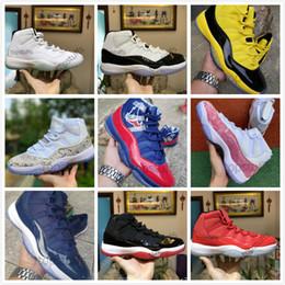 Zapatos cerrados para hombres online-11 Hombres 11s Hombres Concord 45 Space Jam Pink Snakeskin Win Like 96 72-10 Ceremonia de clausura Legend Gamma Blue Infrafed Zapatillas de baloncesto Zapatillas