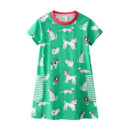 Disfraces para animales online-Vestido de niña con ropa de animales Apliques Algodón de rayas Unicornio Vestidos de fiesta para niñas Ropa Traje de princesa 2-7Y
