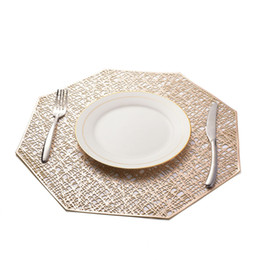 golden bowl Coupons - PVC Placemat For Dining Table Hollow Coaster Pads Table Bowl Mats Kitchen Christmas Home Decor Golden