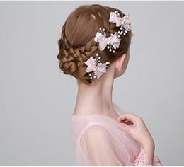 2019 vestidos de casamento dos miúdos china Headdress menina da menina de cabelo menina hairpin pink clip clips lado agir o papel de grampo hairband grampo de cabelo da criança