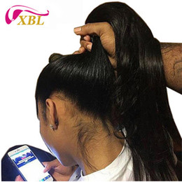mongolian straight lace front wigs Coupons - Lace Front Human Hair Wigs 13BY6 Swiss Lace Human Hair Wig Virgin Human Hair Half Wig