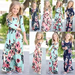 Nuevo vestido floral de las muchachas del bebé vestido bohemio de la manera para las niñas Vestidos Maxi florales de la playa Vestidos de fiesta de los niños Vestido ocasional de la muchacha Z298 desde fabricantes