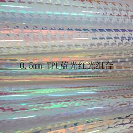 Красная блестящая сумочка онлайн-0.5 мм ТПУ Синтетическая кожа прозрачный звездный круг точка леопарда в форме сердца синий красный лазерный эффект ткань сияет для сумки костюм