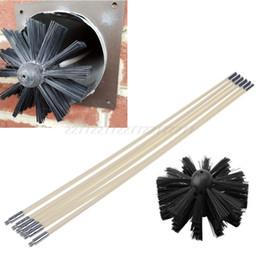 10 Piece Chimney Sweep SetFlue Sweeping Brush /& Rod KitSoot Cleaning Rods
