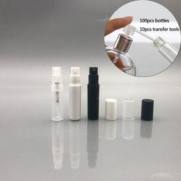 Kleine sprühflaschen online-Kunststoff Parfüm Spray Leere Flasche 2 ML / 2 G Nachfüllbare Probe Kosmetikbehälter Mini Kleine Runde Zerstäuber Für Lotion Haut Weicher Probe
