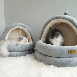 jrbenWHOLESALER Chien / Chat semi-fermé Mongolia lit chaud pour quatre saisons avec tapis lavable amovible ? partir de fabricateur