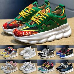 Réaction de la chaîne hommes femmes chaussures plates mode designer de luxe chaussures Chainz neige léopard chaussures de sport occasionnels formateurs bottes baskets nous 5-11 ? partir de fabricateur
