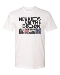 camisas baratas do branco das crianças t Desconto Miúdos novos no bloco NKOTB Personalizado Mens T-Shirt Macia Tee S-3XL Novo Tour-branco verão o pescoço tee, frete grátis tee barato