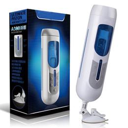 2020 vibrador de vagina para hombre Masturbators masculinos automática USB recargables macho manos libres telescópica Vagina Sex Machine juguetes adultos del sexo masculino vibrador vibrador de vagina para hombre baratos