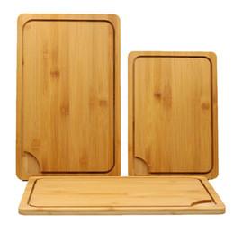 blocco di taglio di bambù Sconti Tagliere di bambù multifunzione Tagliare il pane Dessert Bistecca Tagliere Cucina giapponese Antibatterico Tagliere DH1296