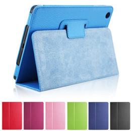 Ipad мини-личи кожаный чехол онлайн-Для iPad Pro 9.7 10.5 кожаный личи смарт-чехол откидная крышка фолио для iPad Air 2 мини 2 3 4