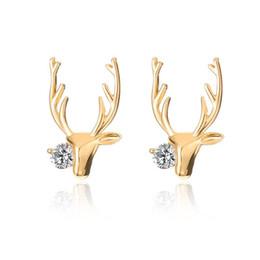 Cerf Antlers Alliage Boucles D'oreilles Femmes Boucles D'Ore Or Blanc K Couleurs Elk Point Oreille Anneaux Bijoux De Mode ? partir de fabricateur