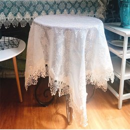 gabinetes coreanos Desconto Estilo coreano pastoral duplo fio de renda bordado retangular 100 * 140 cm toalha de mesa armário de cabeceira TV dustproof capa lance LQ